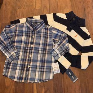 NEW NWT Nautical Sweater Set Sz 18 Mos